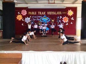 yoga day celebrations ptv icse  parle tilak vidyalaya